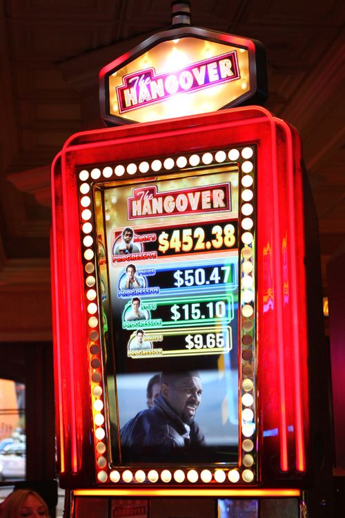 The Hangover video slot machine.