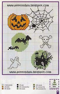 100%_ponto_cruz: Halloween