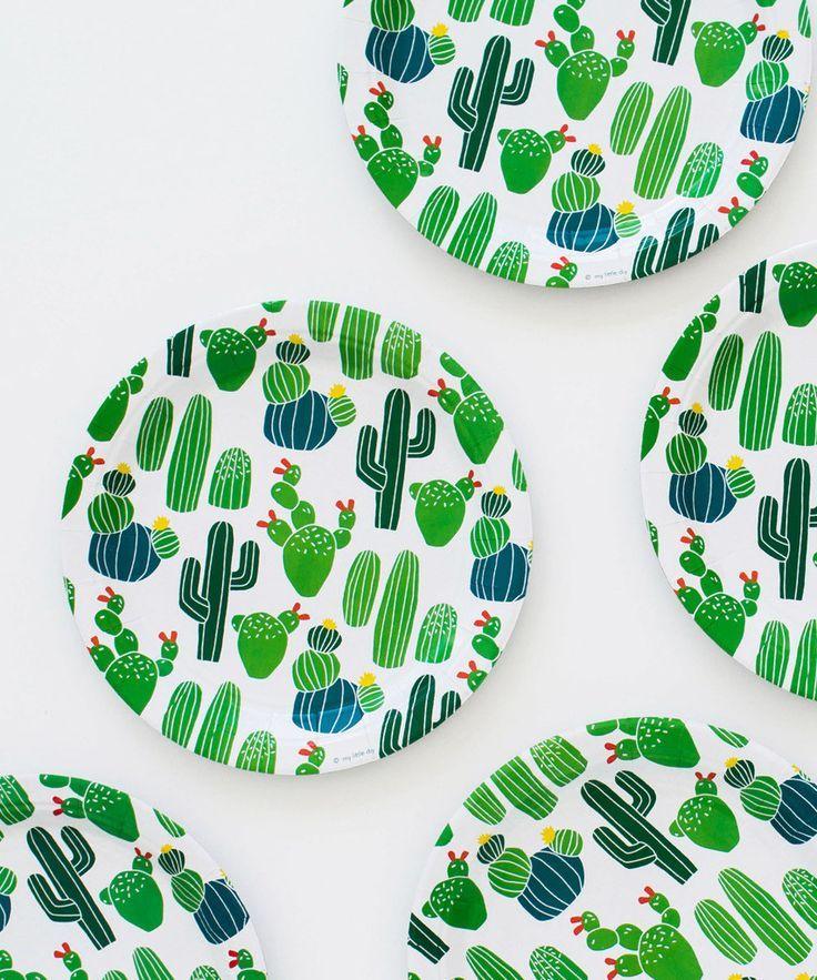 Cactus Party Plates
