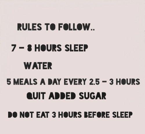 A few simple rules