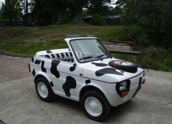 Fiat 126 cabrio mucca | Auto divertenti, Fiat 126, Auto