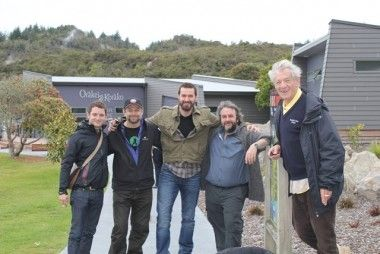 Peter Jackson and 'Lord of the Rings' gang att Orakei Korako