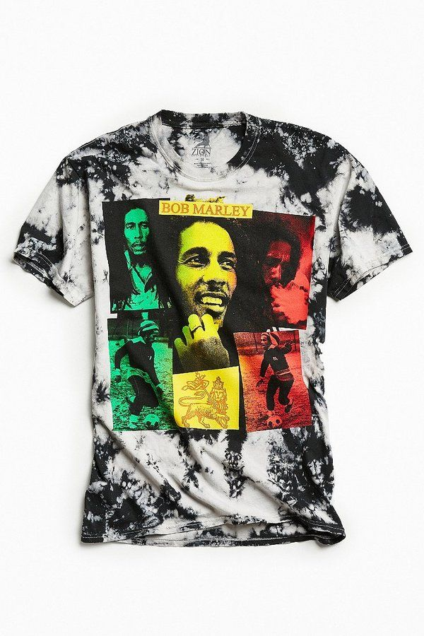 Urban Outfitters Bob Marley Collage Dye Tee