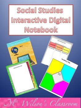 Social Studies Interactive Digital Notebook for Google Drive