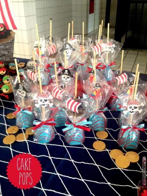 """Pirate party - cake pops  """"Everybody Loves Pirates"""" birthday party at the Center for Puppetry Arts, Atlanta, GA"""