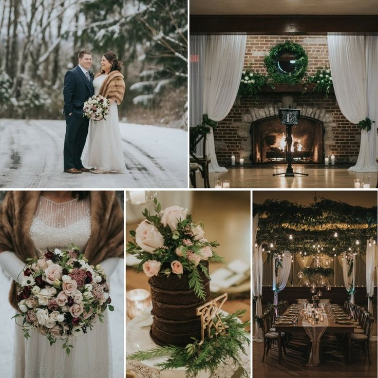 A Greenery Filled Winter Wedding at the Chandelier Ballroom
