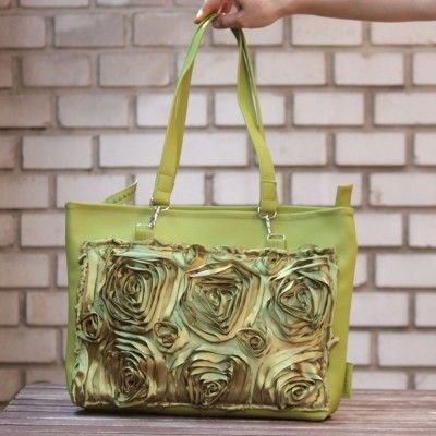 Original handbag with application - roses.