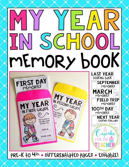 I am VERY excited to share my latest product with you!   My Year in School Memory Book  is a WONDERFUL way for students to document the...