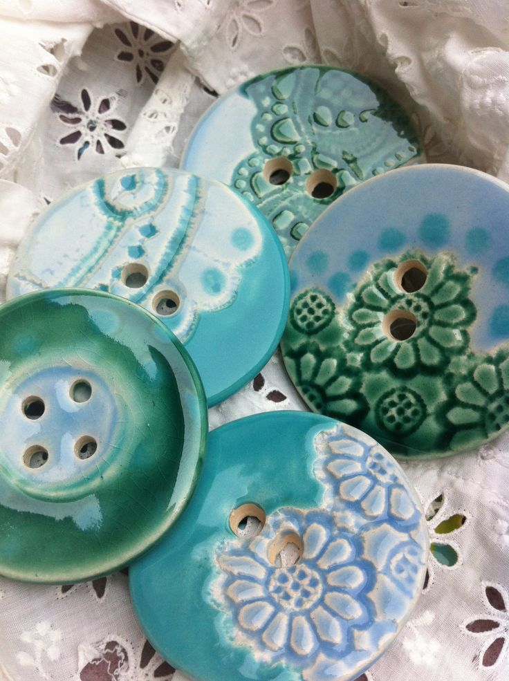 Hand crafted ceramic buttonshttp://magpieandbutterfly.com /// MAKE FOR FRIENDS AS EARRINGS