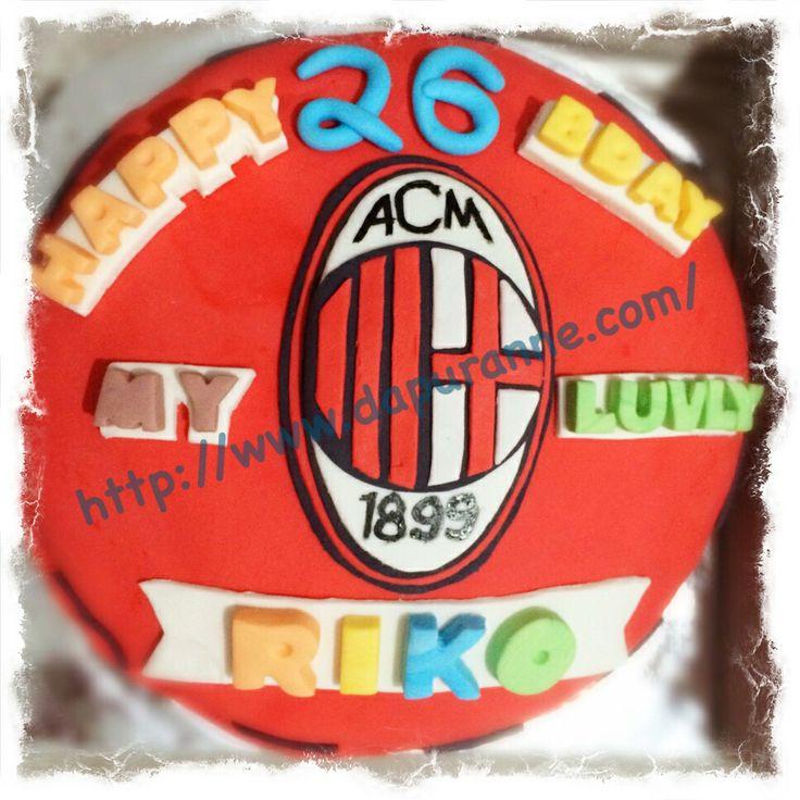 AC Milan Fondant Cake