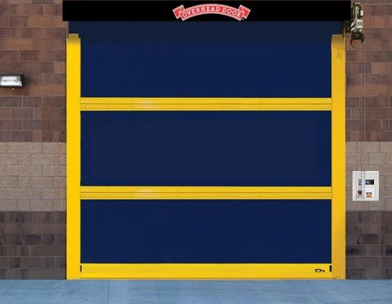 High Speed Exterior Rubber Door 994 In 2020 Overhead Door Overhead Overhead Door Company