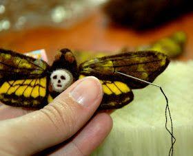 pammy dawn designs: How to Needle Felt a Moth