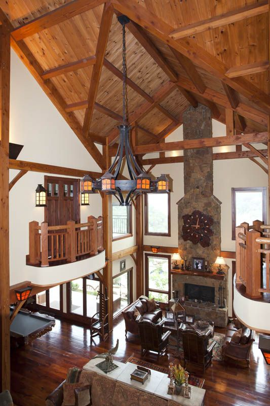 Gorgeous Wood Beams Really Accent This Home Interior!  Www.texastimberframes.com Https: Timber Frame ...