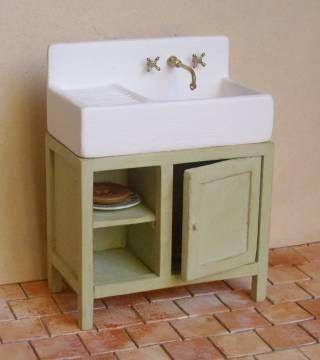 Dolls house tutorial kitchen sink
