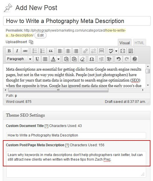 write meta descriptions with good examples