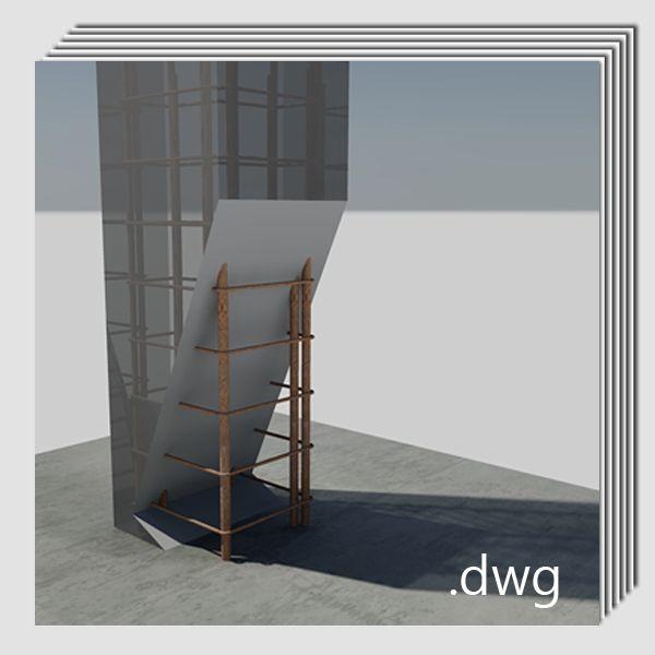 Pack detalles constructivos .pdf y .dwg: Rehabilitación y reparación de pilares de hormigón armado.