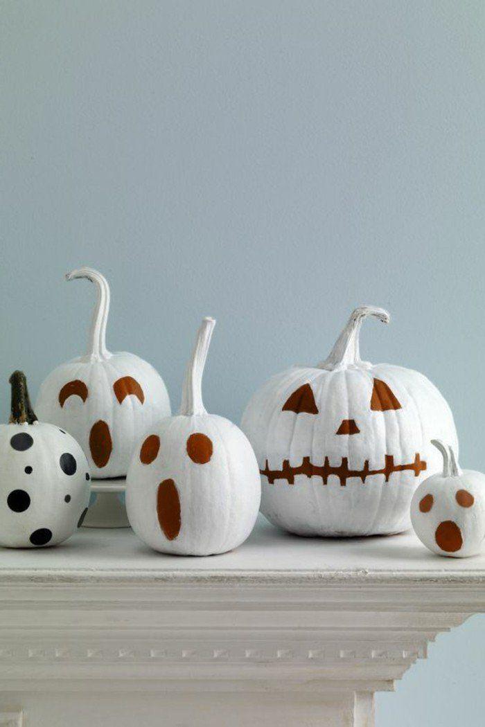 bricolage d'automne pour halloween, comment décorer les citrouilles