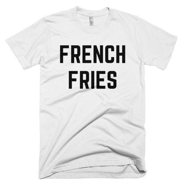 FRENCH FRIES - Short sleeve unisex t-shirt