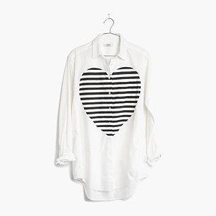 Madewell, Heartbeat Oversized Button-Down Shirt #GIFTWELL