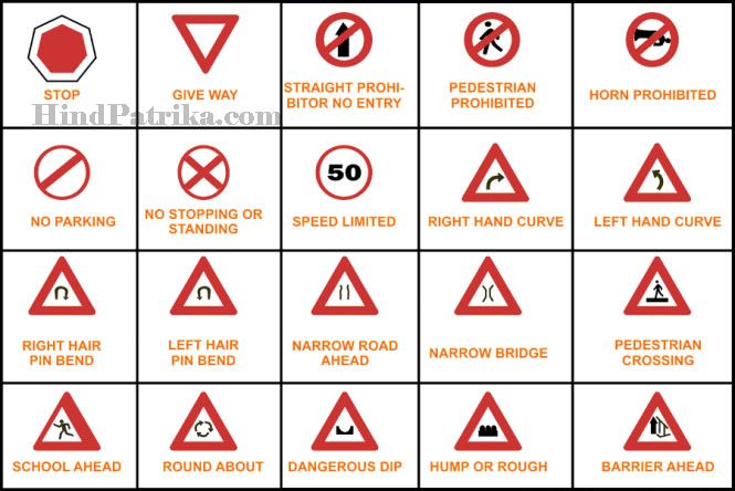 Traffic Rules In Hindi Traffic Signs Traffic Signs And Symbols