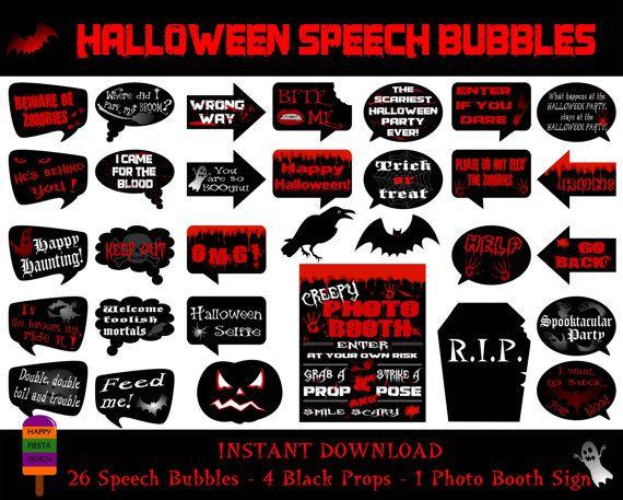 hallooween speech pieces 26 speech bubbles4 props1 photo