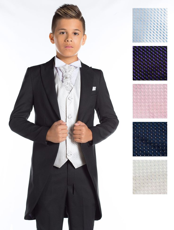 £46.99 boys black tail suit | Boys morning suits | Page boy outfits | Roco