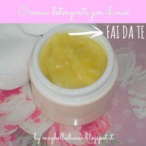 Pulizia del viso: crema detergente fai da te