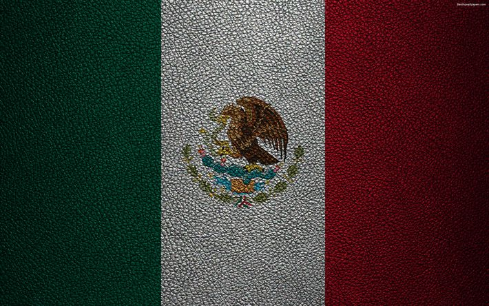 Download wallpapers Flag of Mexico, 4k, leather texture, North America, Mexican flag, flags of the world, Mexico