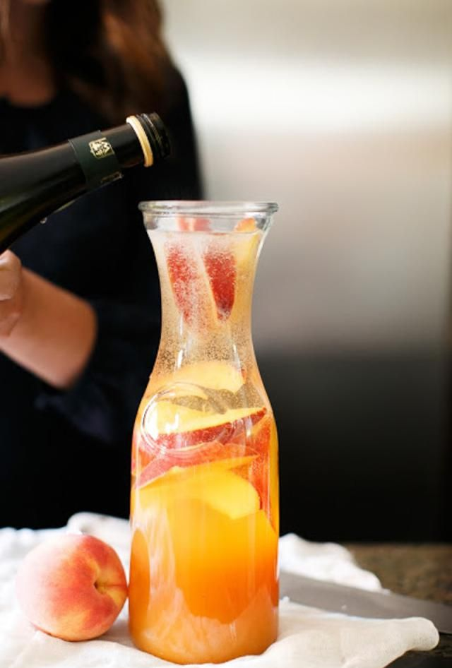 Prosecco Sangria -- This cocktail is not only great for shower and brunches, but weddings and dinners as well.