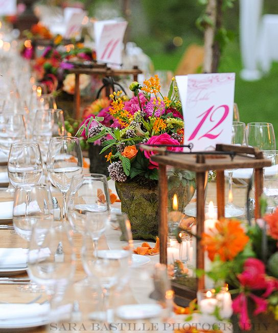 Flowers For A Wedding Reception: 168 Best Images About Hot Pink & Orange Wedding