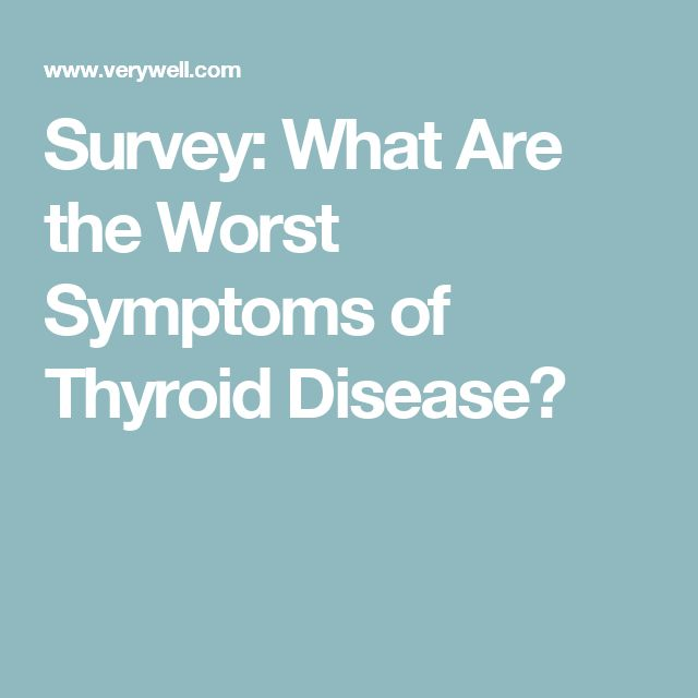 Survey: What Are the Worst Symptoms of Thyroid Disease?