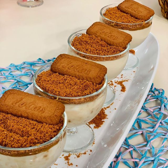 مهلبية بزبدة اللوتس قدمى لاسرتك المهلبية بنكهة زبدة اللوتس المميزة المقادير ٤ كوب لبن حليب ٥ معالق كب Cheesecake Recipes Pudding Biscuit Pudding