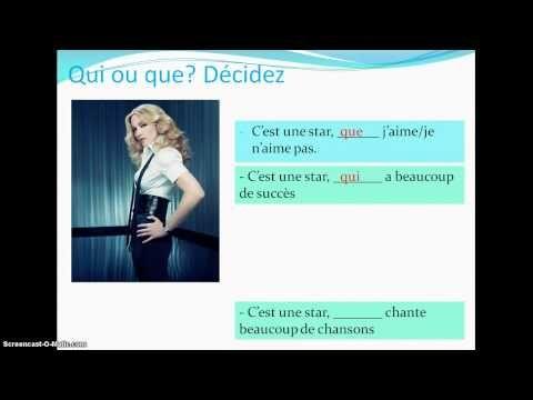 ▶ Les pronoms relatifs 1: qui et que.mp4 - YouTube