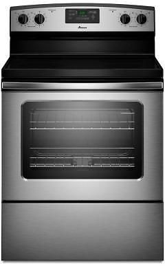 4.8 cu. ft. Electric Range with Self-Cleaning Oven in Stainless Steel: Head over to Home Depot to get this Amana 4.8… #coupons #discounts