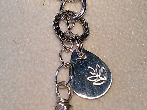 Smokey Quartz with Leaf Stamped Teardrop by BelindasCreations, $30.00