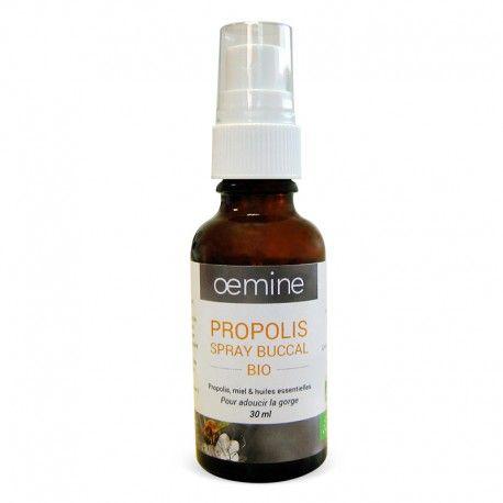 PROPOLIS SPRAY BUCCAL BIOLOGIQUE - 30 ML.  À  utiliser comme curatif pour combattre la rhinovirus une maladie infectieuse virale qui ressemble fortement à  la grippe avec la particularité  de toucher le nez. La rhinovirus  ce n est pas un rhume. Cet virus est capable d' irriter les fosses nasales. Ce spray on peut l' appliquer à  la gorgé ou vaporisé  dans le nez 3 fois par jour.