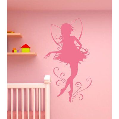 "Style and Apply Fairy Dancer Wall Decal Color: Golden Yellow, Size: 51"" H x 33"" W"