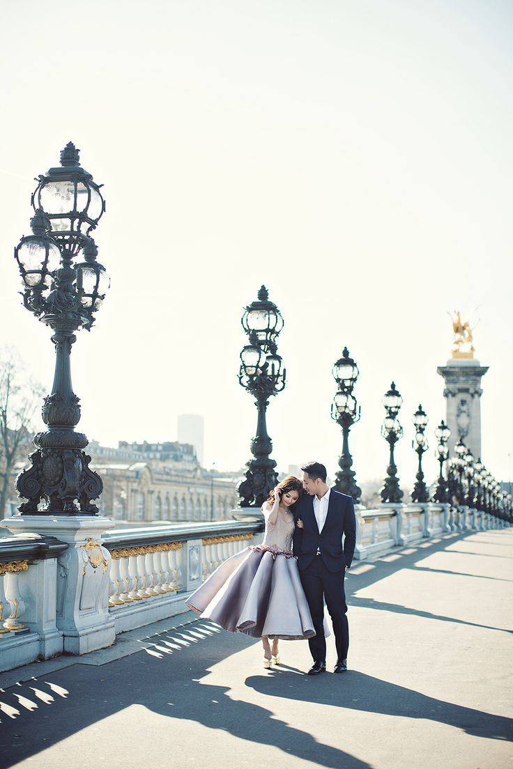 Celebrating love in Paris with a destination engagement shoot by Axioo // Tres Chic: Agung and Vili's Parisian Engagement