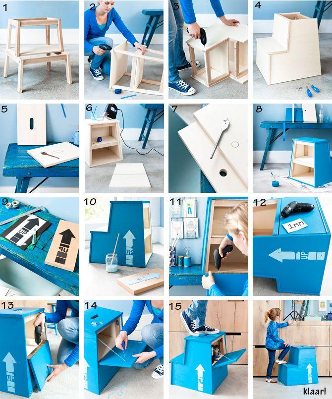 DIY: storage stair/stool