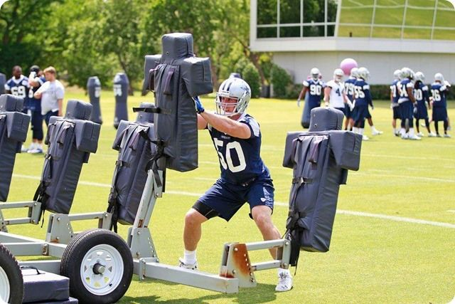 THE BOYS ARE BACK TO WORK - Sean Lee injury key topic at Jason Garrett's press conference - 2014 Dallas Cowboys OTA's Report - Sean Lee practice