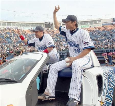 Norihiro Nakamura and Daisuke Miura (Yokohama DeNA BayStars)