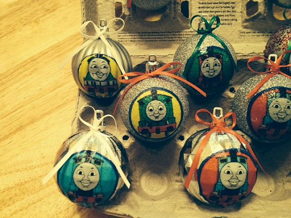 Thomas the Train Christmas Ornaments by TranquilityForMe on Etsy