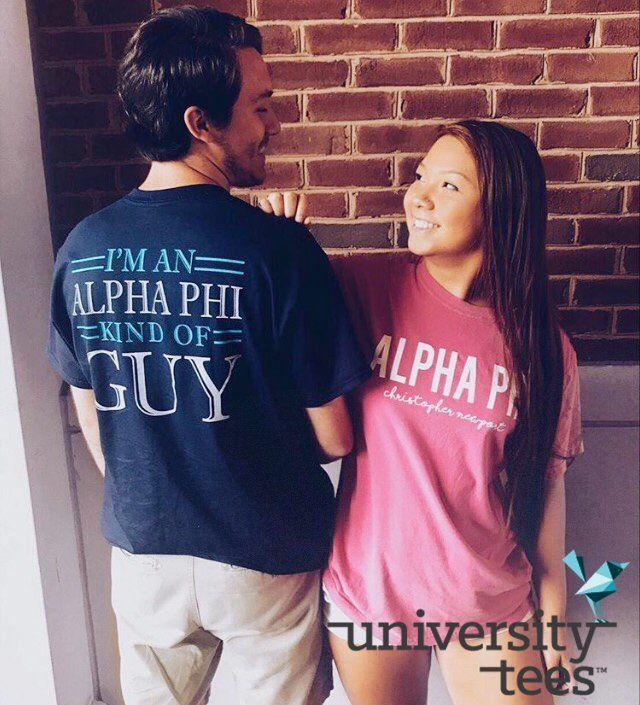 Alpha Phi Kind of Guy I Made by University Tees I Apparel Designs   Custom Greek Apparel   Sorority Tanks   Sorority Shirt Designs I Greek T-shirts