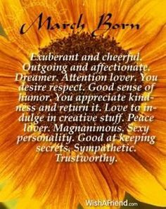 born in march meaning - Google Search