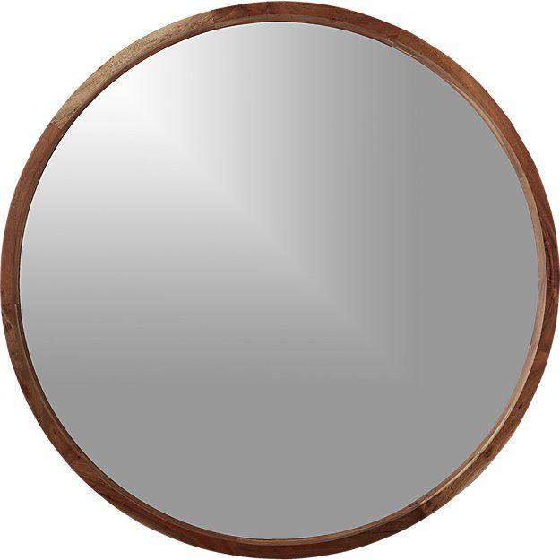 Round Wood Mirror Acacia, 40 Round Mirror