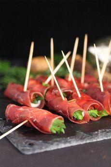 Petits rouleaux de bresaola pour un apéritif léger, Recette Ptitchef