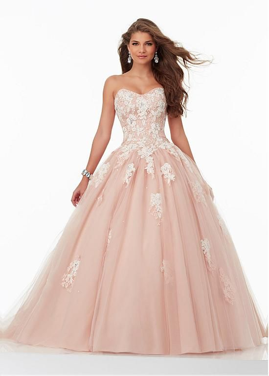 Fantastic Tulle Sweetheart Neckline Ball Gown Quinceanera Dresses With Lace Appliques