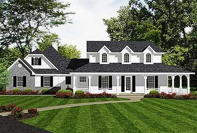 Farmhouse with Classy Master Suite - 3484VL thumb - 02