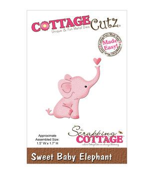 "CottageCutz Mini Die 1.5""X1.7""-Sweet Baby Elephant"