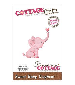 "CottageCutz Mini Die 1.5""X1.7""-Sweet Baby Elephant"